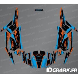 Kit de decoración de la Fábrica de Edición (Azul/Naranja)- IDgrafix - Polaris RZR 1000 S/XP -idgrafix