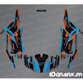 Kit dekor Factory Edition (Blau/Orange)- IDgrafix - Polaris RZR 1000 S/XP-idgrafix