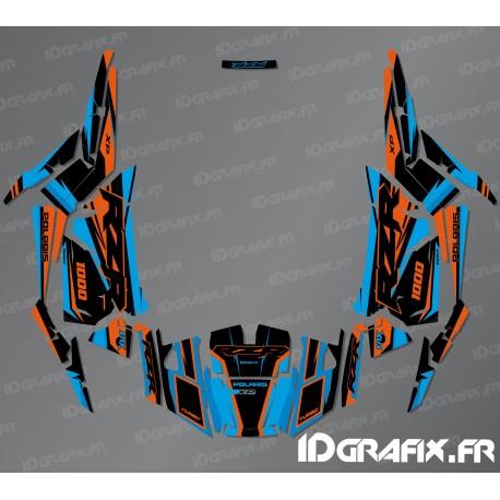 Kit decoration Factory Edition (Blue/Orange)- IDgrafix - Polaris RZR 1000 S/XP-idgrafix