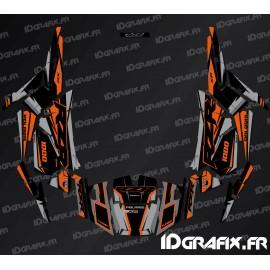 Kit de decoración de la Fábrica de Edición (Gris/Naranja)- IDgrafix - Polaris RZR 1000 S/XP -idgrafix