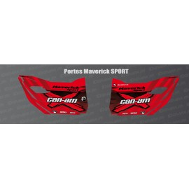 Stickers Factory Edition (red) for doors Can Am Maverick SPORT-idgrafix