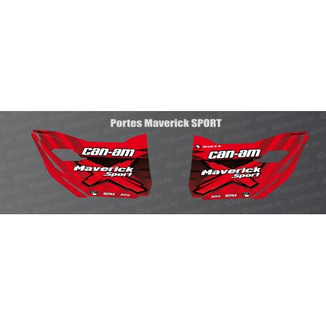 Stickers Sport Edition (red) for doors Can Am Maverick SPORT-idgrafix