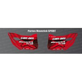 Stickers Trail Edition (rouge) pour portes Can Am Maverick TRAIL-idgrafix