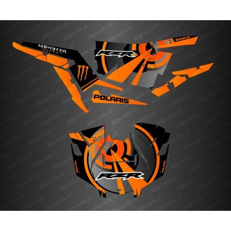 Kit de decoració Òptica Edició (Taronja)- IDgrafix - Polaris RZR 1000 Turbo / Turbo S -idgrafix
