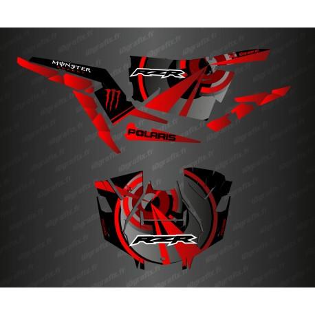 Kit de decoració Òptica Edició (Vermell)- IDgrafix - Polaris RZR 1000 Turbo / Turbo S -idgrafix