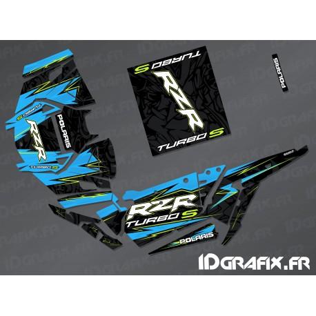 Kit de decoració Flash Edició (Blau)- IDgrafix - Polaris RZR 1000 Turbo / Turbo S -idgrafix