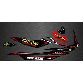 Kit decoration Rockstar Edition Full (Red) - for Seadoo GTI - IDgrafix