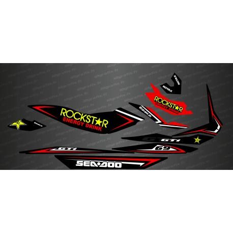Kit de decoració Rockstar Edició Completa (Vermell) - per Seadoo GTI -idgrafix