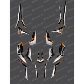 Kit décoration SpiderStar Gris/Orange (Light) - IDgrafix - Polaris 850 Scrambler-idgrafix
