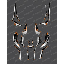 Kit decoration SpiderStar Grey/Orange (Light) - IDgrafix - Polaris 850 Scrambler - IDgrafix