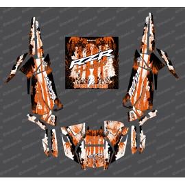 Kit décoration Drop Edition (Orange)- IDgrafix - Polaris RZR 1000 Turbo / Turbo S-idgrafix