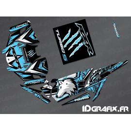 Kit decoration Wolf Edition (Blue)- IDgrafix - Polaris RZR 1000 Turbo / Turbo S