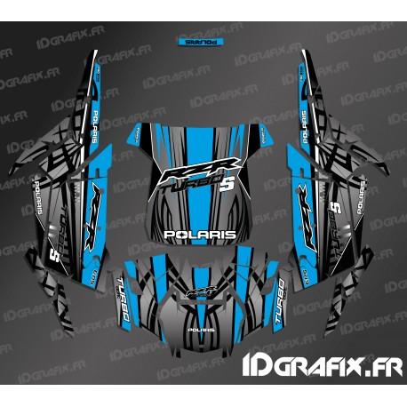 Kit de decoració de Titani Edició (Blau)- IDgrafix - Polaris RZR 1000 Turbo / Turbo S -idgrafix