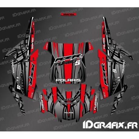 Kit de decoració de Titani Edició (Vermell)- IDgrafix - Polaris RZR 1000 Turbo / Turbo S -idgrafix