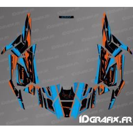 Kit décoration Factory Edition (Bleu/Orange)- IDgrafix - Polaris RZR 1000 Turbo / Turbo S-idgrafix