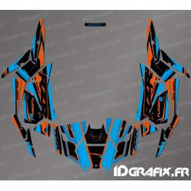 Kit dekor Factory Edition (Blau/Orange)- IDgrafix - Polaris RZR 1000 Turbo / Turbo S