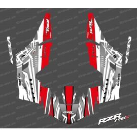 Kit dekor Titanium Edition (Weiß/Rot)- IDgrafix - Polaris RZR RS1-idgrafix