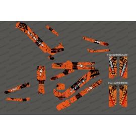 Kit déco Brush Edition Full (Orange) - Specialized Kenevo (après 2020)-idgrafix