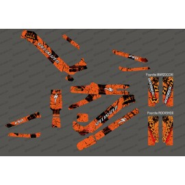 Kit deco Brush Edition Full (Orange) - Specialized Kenevo (after 2020) - IDgrafix