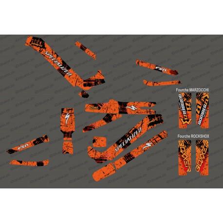 Kit deco Brush Edition Full (Orange) - Specialized Kenevo (after 2020) - IDgrafix