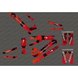 Kit déco Brush Edition Full (Rouge) - Specialized Kenevo (après 2020)-idgrafix