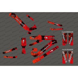 Kit deco Brush Edition Full (Red) - Specialized Kenevo (after 2020)-idgrafix