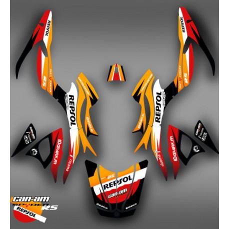 Kit de decoració Liner color Gris - IDgrafix - Am RS Spyder -idgrafix