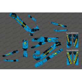 Kit deco Brush Edition Full (Blue/Yellow) - Specialized Kenevo (after 2020) - IDgrafix