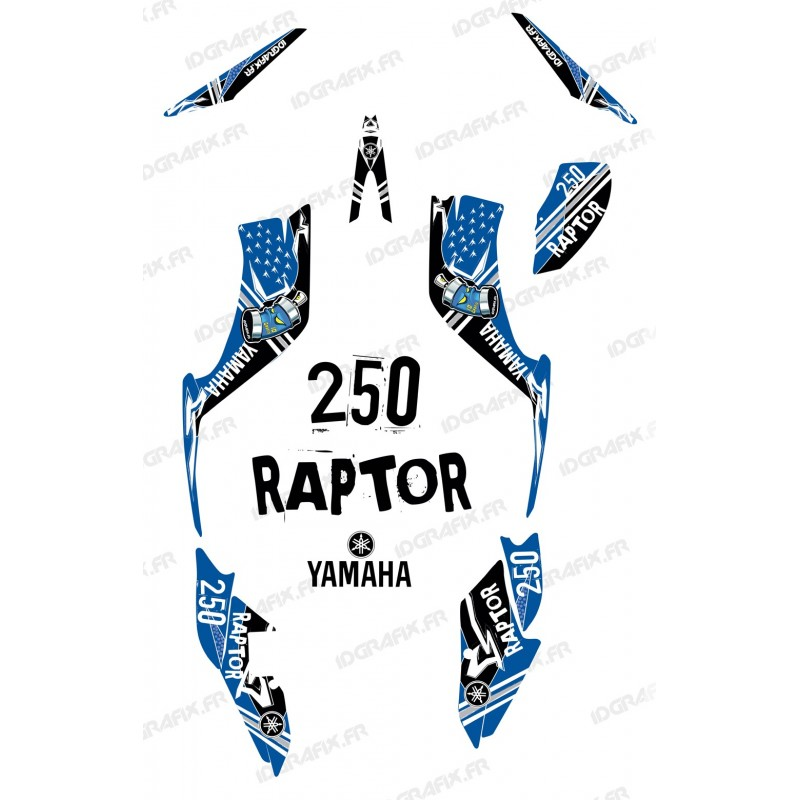 Kit dekor Street Blau - IDgrafix - Yamaha 250 Raptor