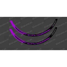Lot 2 Stickers Rim Roval (Purple)