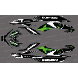 Kit décoration Monster Full Edition (Green) - for Seadoo GTI GTR-idgrafix