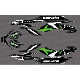 Kit décoration Monster Full Edition (Green) - for Seadoo GTI GTR - IDgrafix