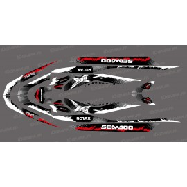 Kit décoration Monster Splash Red for Seadoo RXT 260 / 300 (S3 hull)-idgrafix