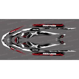 Kit décoration Monster Splash Red pour Seadoo RXT 260 / 300 (coque S3)-idgrafix