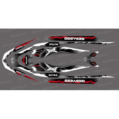 Kit de décoration Monstre Splash de Vermell per Seadoo RXT 260 / 300 (S3 buc) -idgrafix