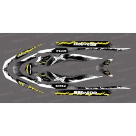 Kit décoration Monster Splash Jaune pour Seadoo RXT 260 / 300 (coque S3)