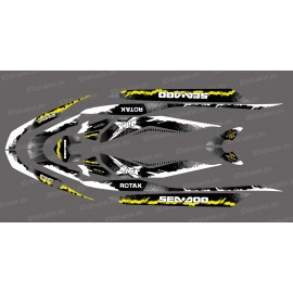 Kit décoration Monster Splash Yellow for Seadoo RXT 260 / 300 (S3 hull)-idgrafix