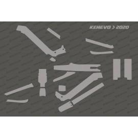 Kit Adhesivo de Protección Completo (Brillo o Mate) - Especializado Kenevo (después de 2020) -idgrafix