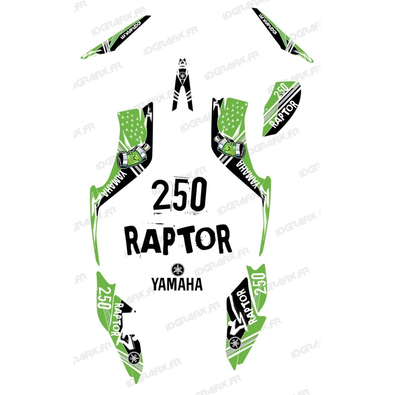 Kit dekor Street Grün - IDgrafix - Yamaha 250 Raptor