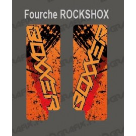 Stickers Protection Fourche Brush (Orange) RockShox Boxxer-idgrafix