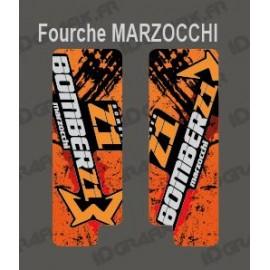 Sticker Schutz-Gabel Brush (Orange) Marzocchi-Bomber-idgrafix