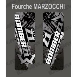 Sticker Schutz-Gabel, Pinsel (Grau), Marzocchi Bomber-idgrafix