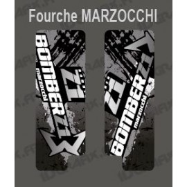 Stickers Protection Fork Brush (Grey) Marzocchi Bomber - IDgrafix