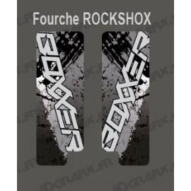 Pegatinas De Protección Tenedor De Cepillo (Gris) RockShox Boxxer -idgrafix
