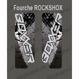 Stickers Protection Fork Brush (Grey) RockShox Boxxer - IDgrafix