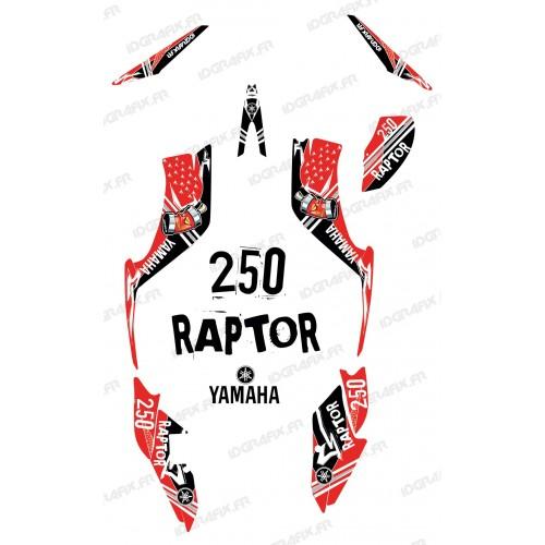 Kit de decoración de la Calle Rojo - IDgrafix - Yamaha Raptor 250