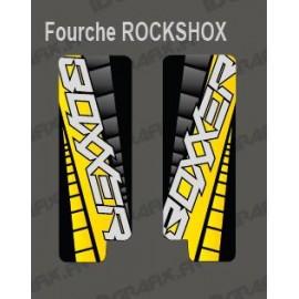 Stickers Protection Fourche GP (Jaune) RockShox Boxxer-idgrafix
