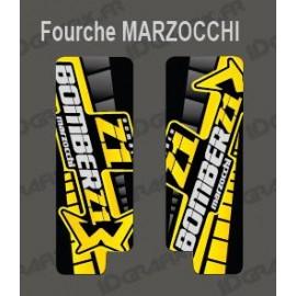 Sticker Schutz-Gabel GP (Gelb) Marzocchi-Bomber-idgrafix
