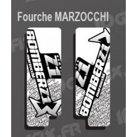 Stickers Protection Fork TroyLee (White) Marzocchi Bomber - IDgrafix