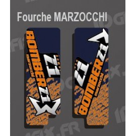 Stickers Protection Fork TroyLee (Blue) Marzocchi Bomber - IDgrafix